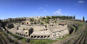Ercolano (Na), veduta panoramica dell'area degli scavi