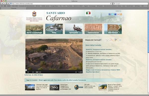 La custodia di terra santa lancia il nuovo sito web del for Sito web di progettazione della casa